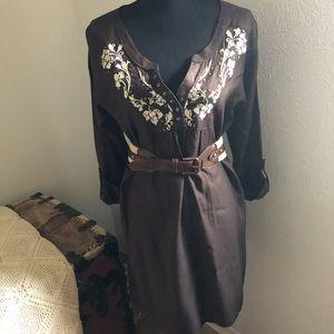 Ariat Embroidered Shirt Dress! Sz S/P